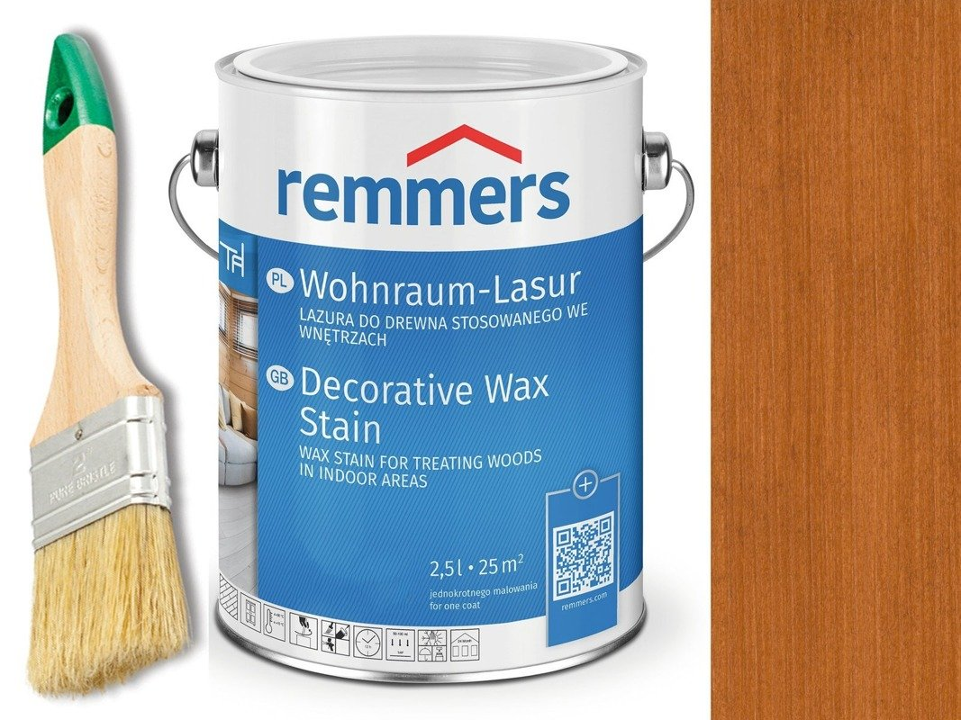 Lazura woskowa Remmers do wnętrz 0,75 L WIŚNIA