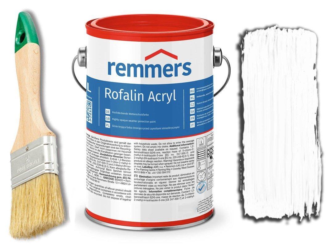 Remmers Rofalin Acryl farba do drewna BIAŁA 5L