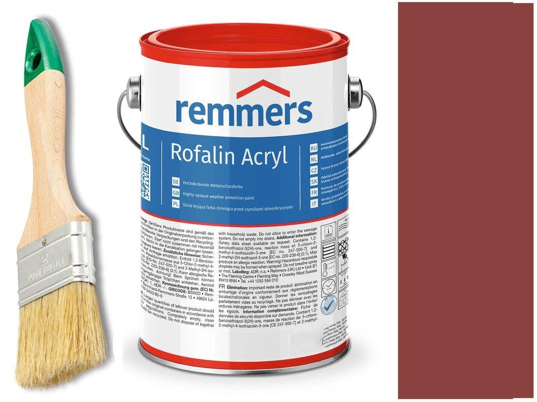 Remmers Rofalin Acryl farba do drewna CZERWONY 10L